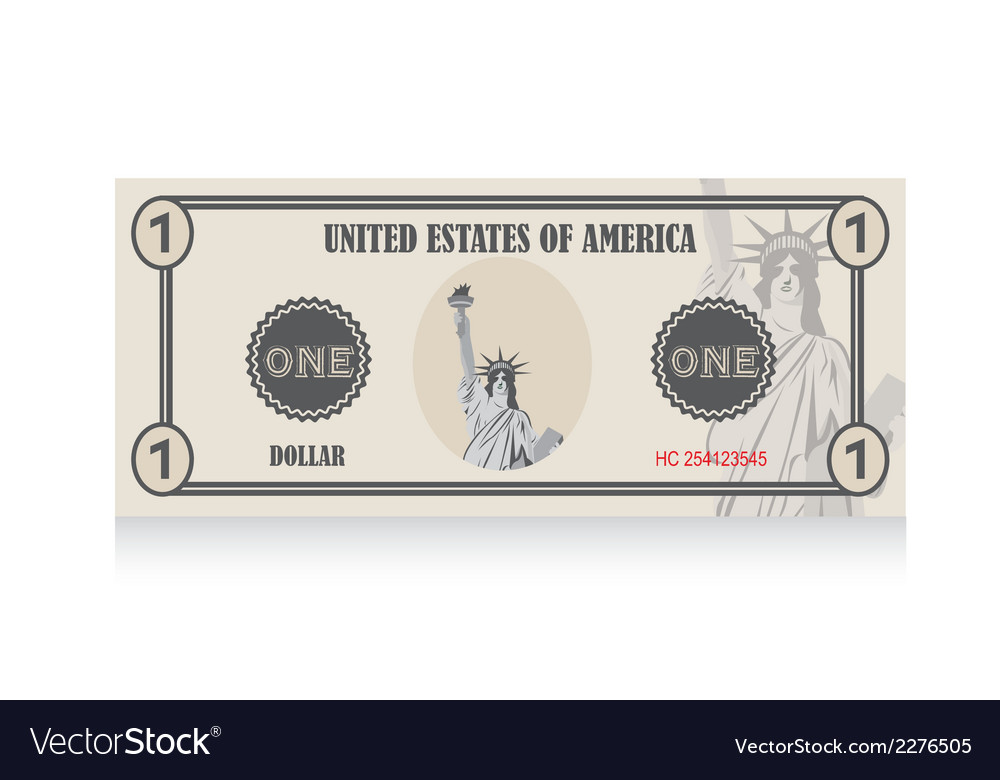 United states dollar vector