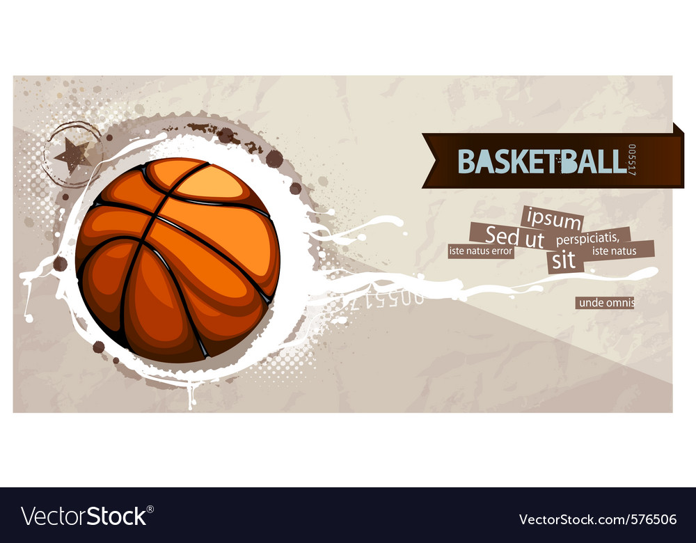 Grunge basketball vector