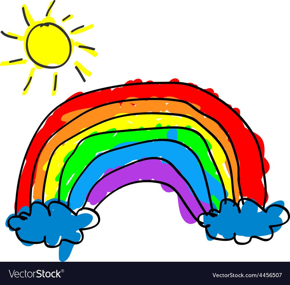 Child rainbow vector