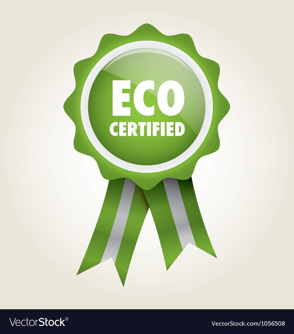 Label eco certified vector