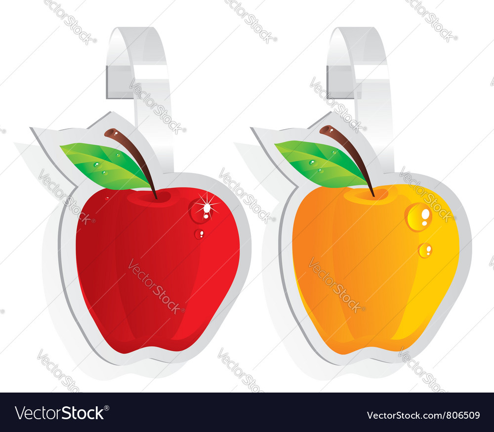 Wobbler ripe apple vector