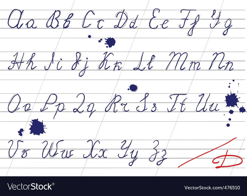 Handwriting alphabet vector