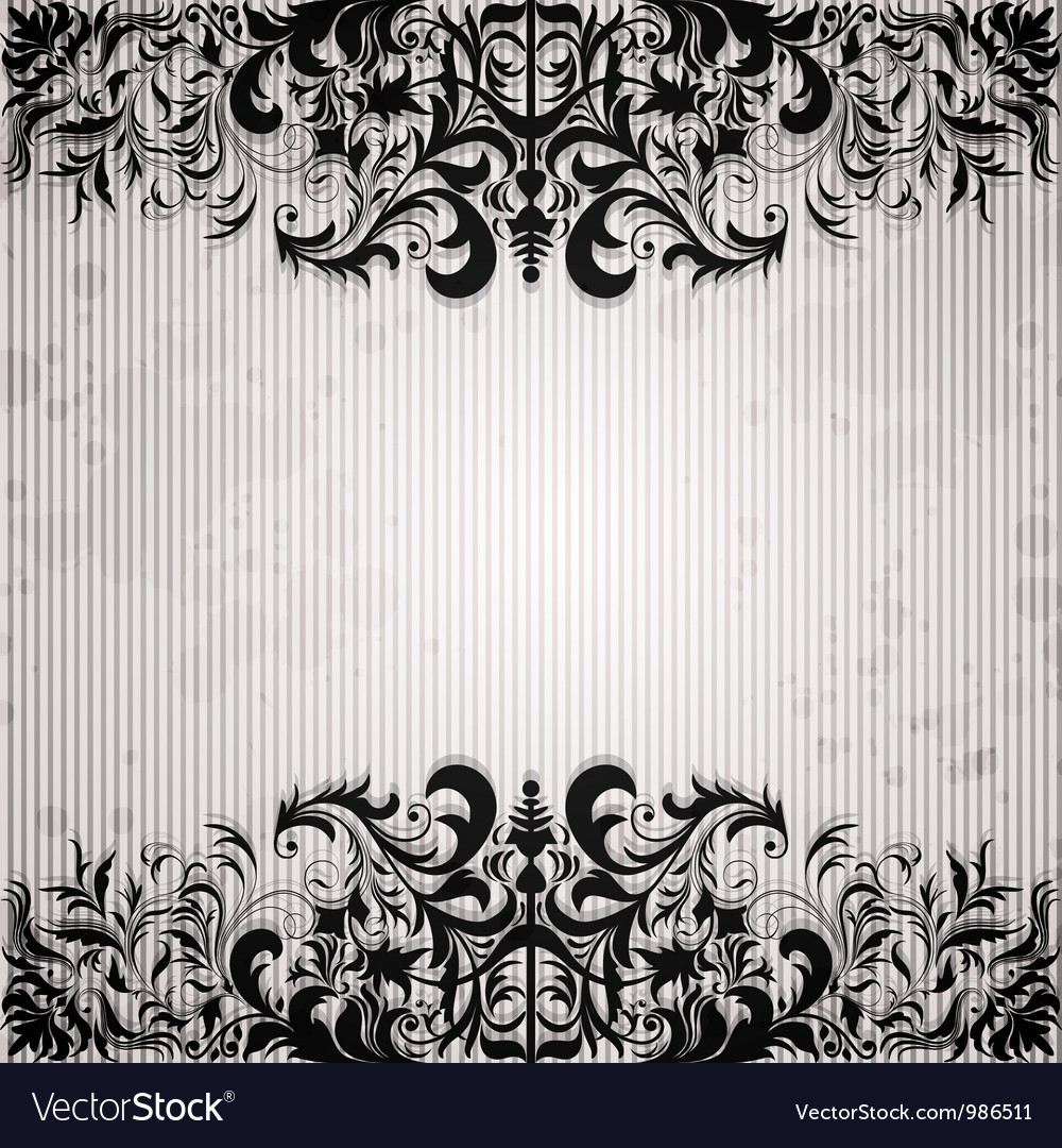 Luxury background with vintage frame vector