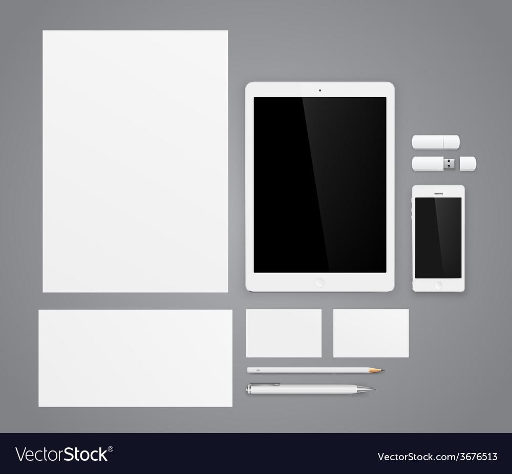 Template for branding vector