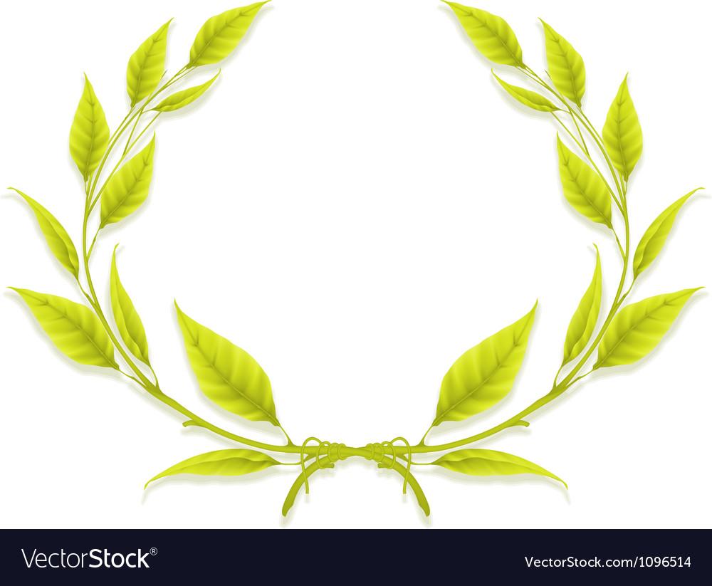 Laurel wreath design element vector