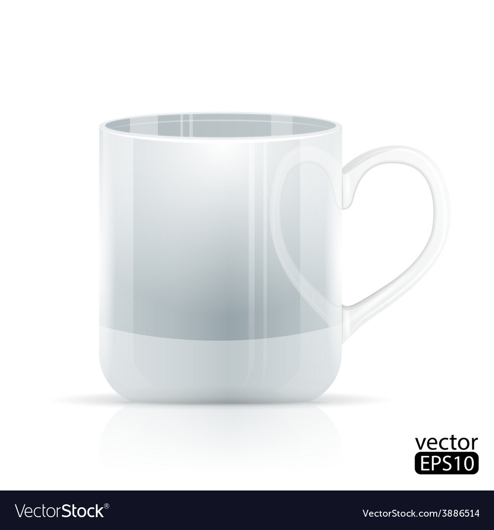Realistic cool white cup vector