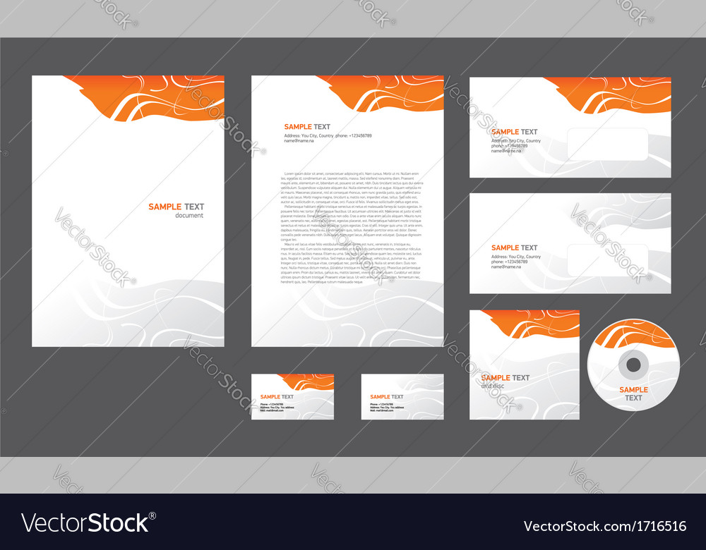 Abstract creative line wave colorful template vector