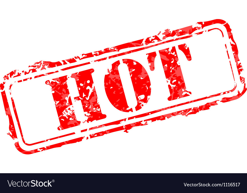 Hot rubber stamp vector