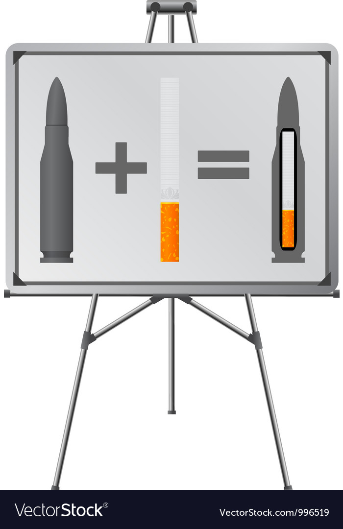 Easel and sigaret cartridge vector