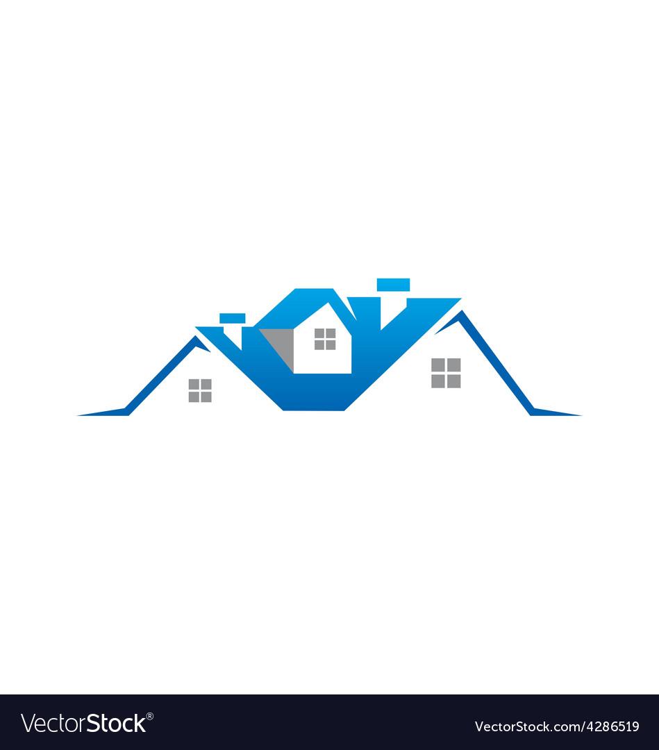 House realty property logo vector