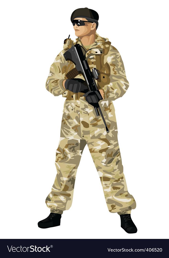 Desert camouflage vector