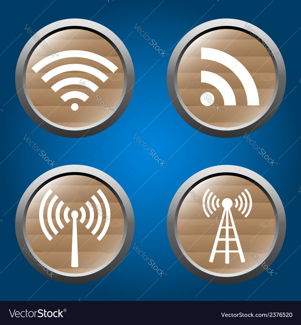 Wireless icons set for business or commercial use vector