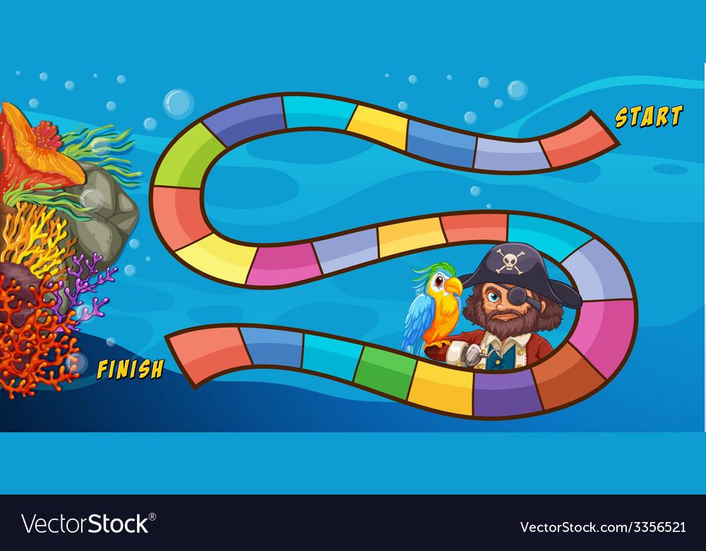 Pirate boardgame vector