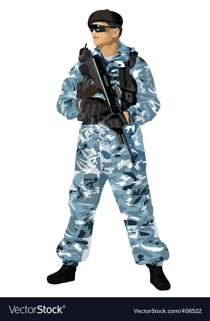 Soldier navy vector