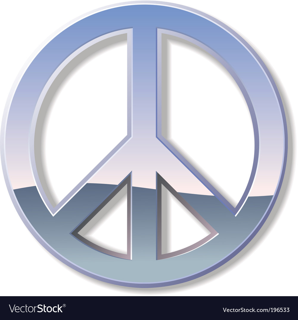 Chrome peace sign vector