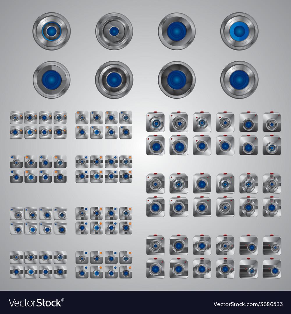 Media interface camera vector