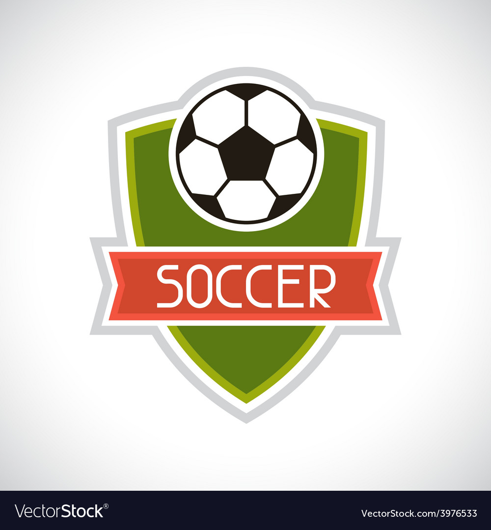 Sports soccer football badge vector