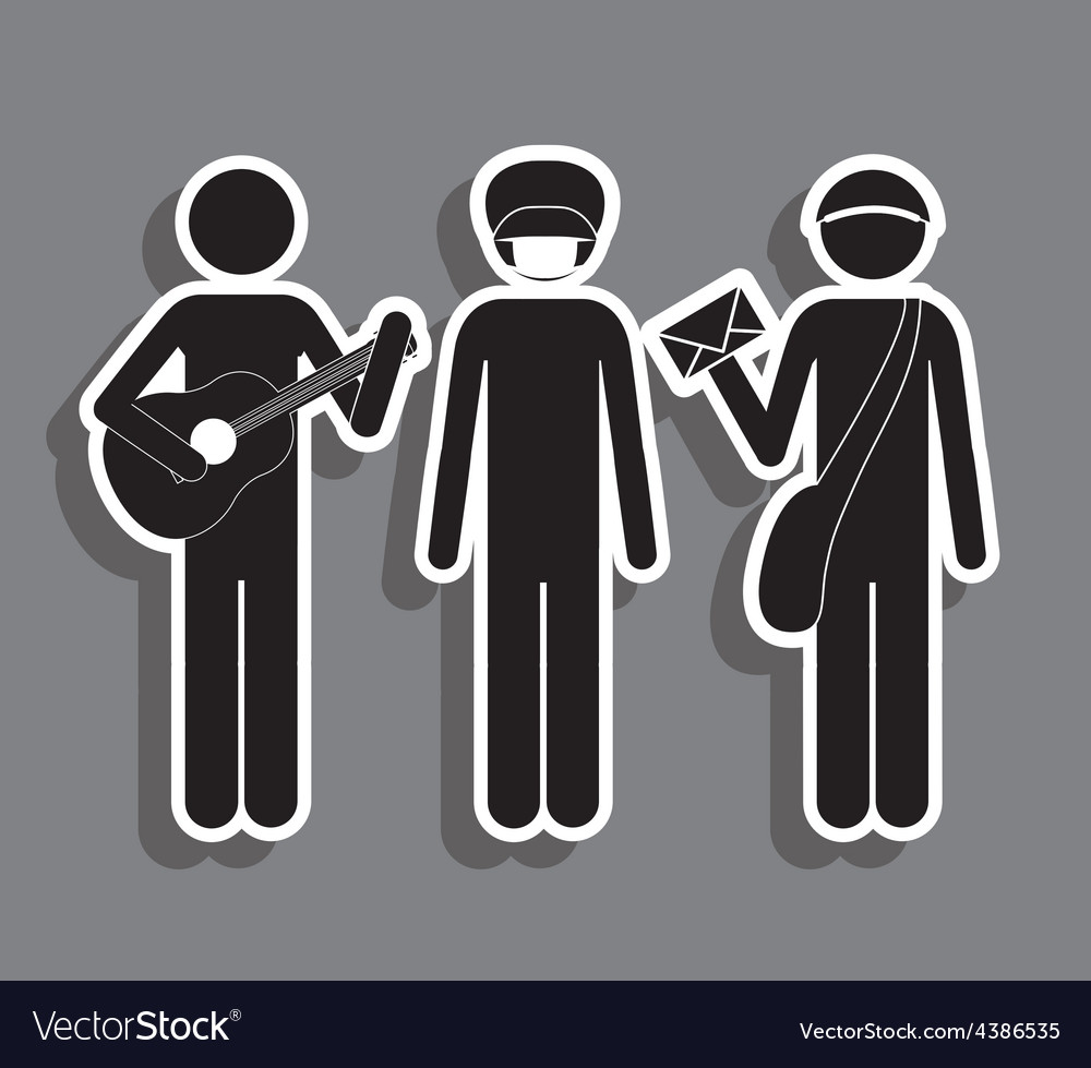 Occupations design vector
