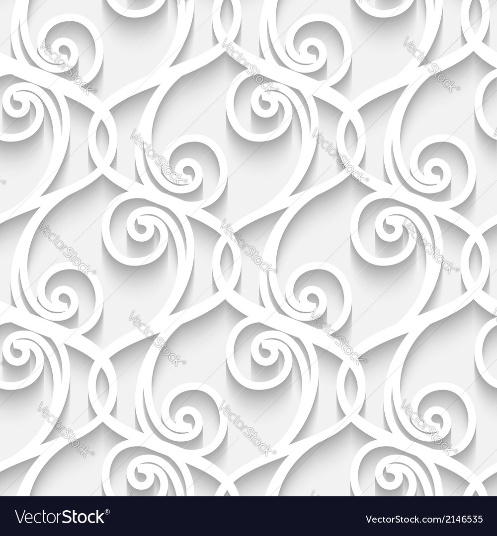 Paper lace pattern vector