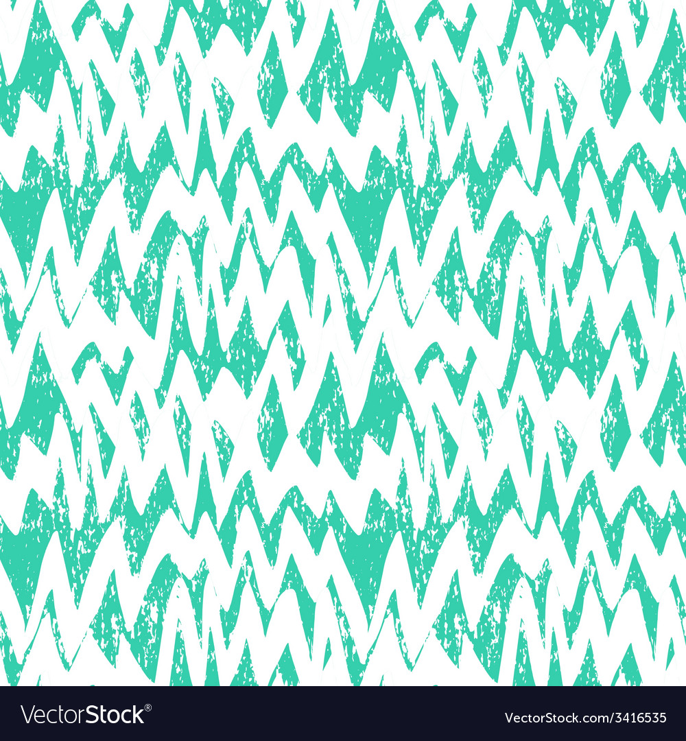 Striped hand drawn pattern with zigzag lines vector