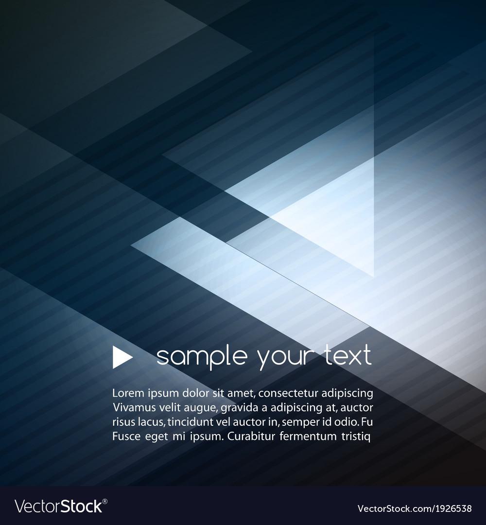 Elegant geometric blue background vector