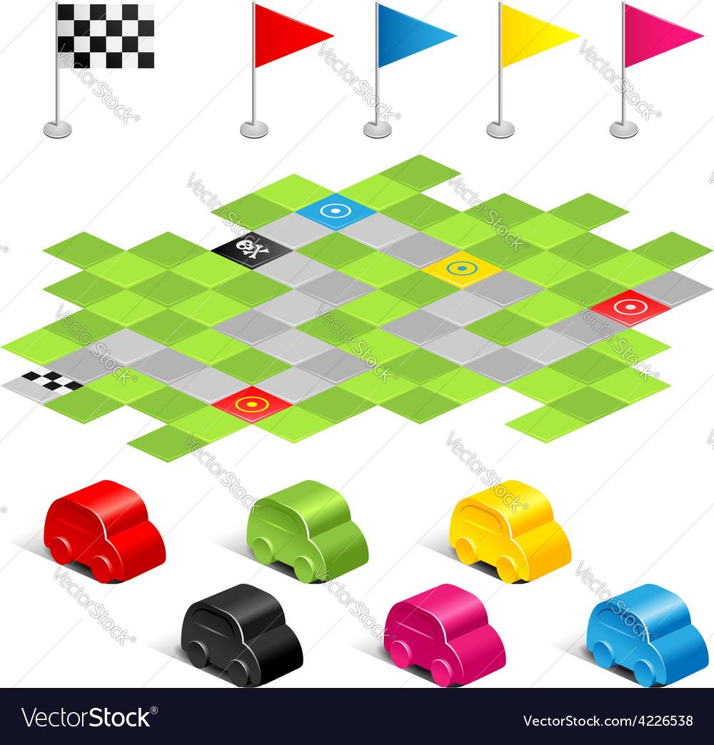 Game racing vector