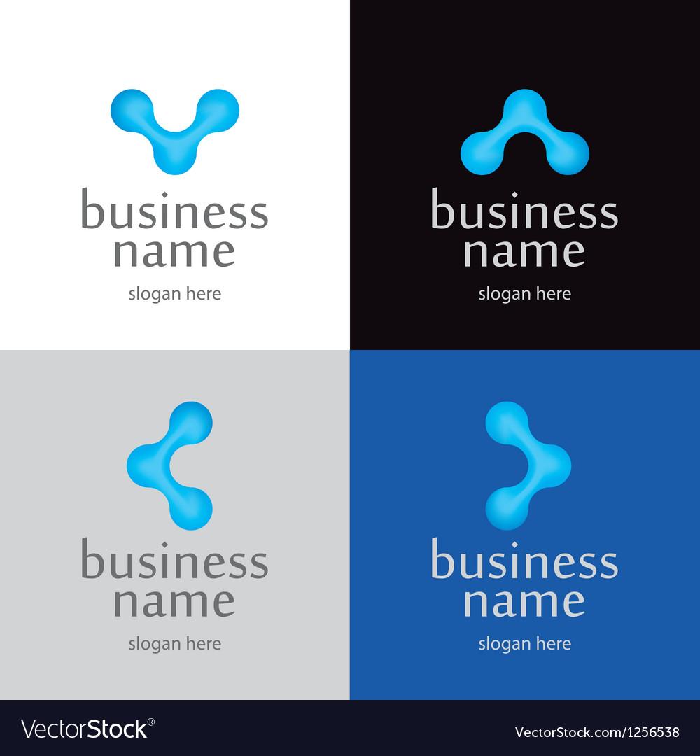 Logo of innovative technologies in the letter v vector