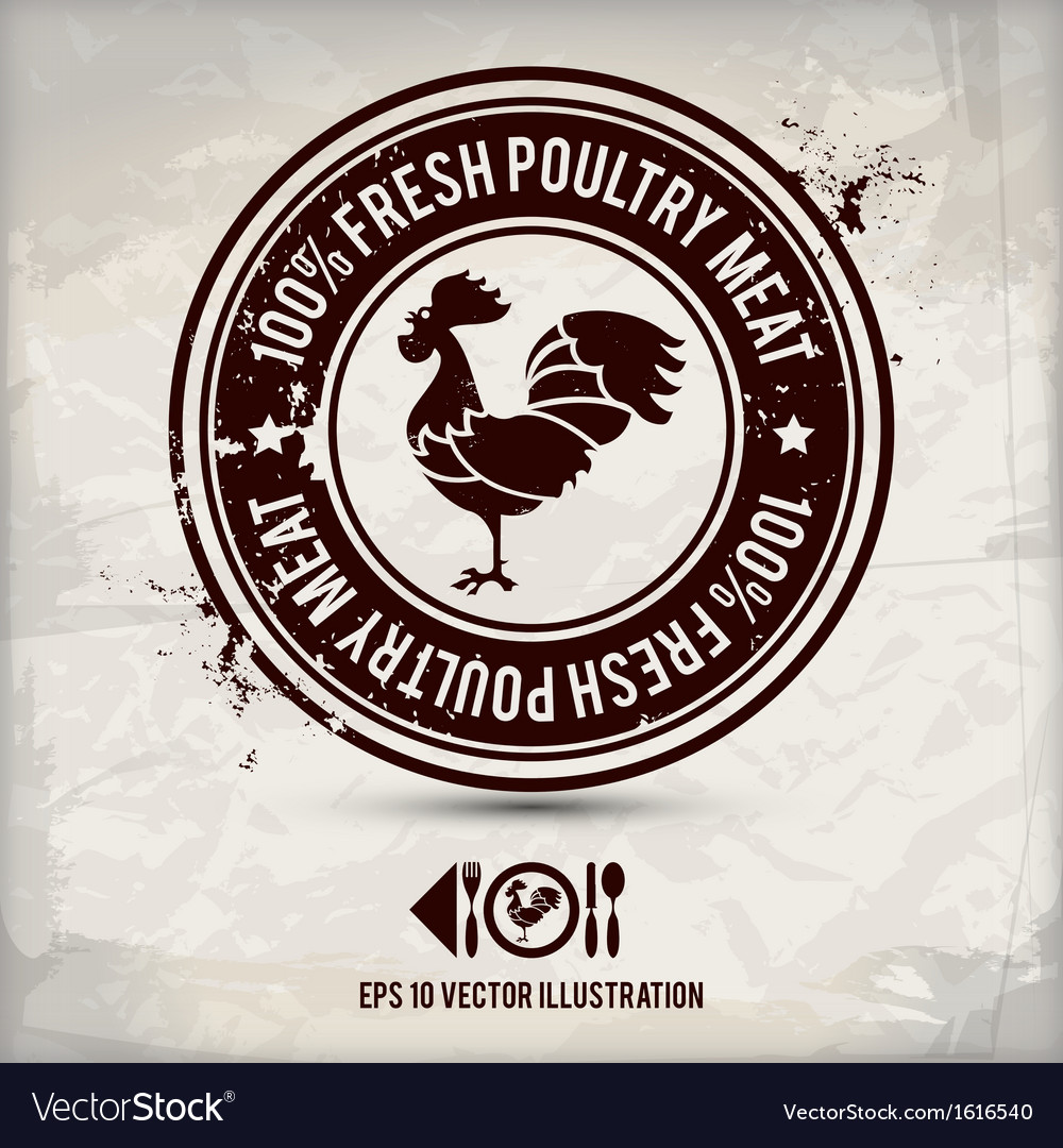 Alternative poultry stamp vector
