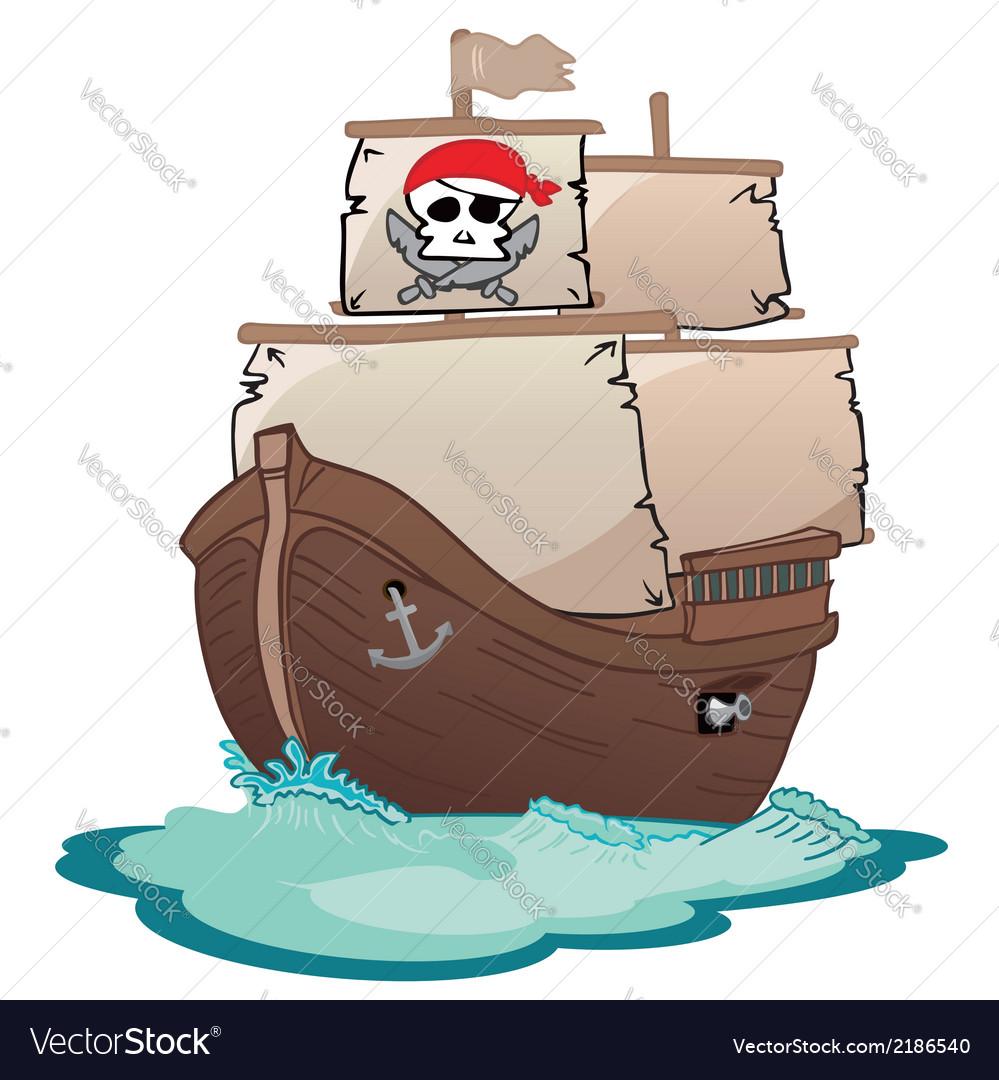 Corsair sailboat vector