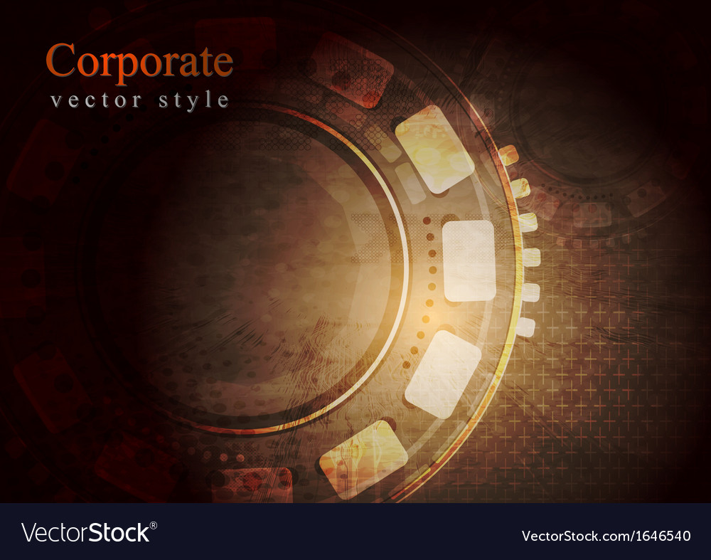 Dark grunge technology background vector