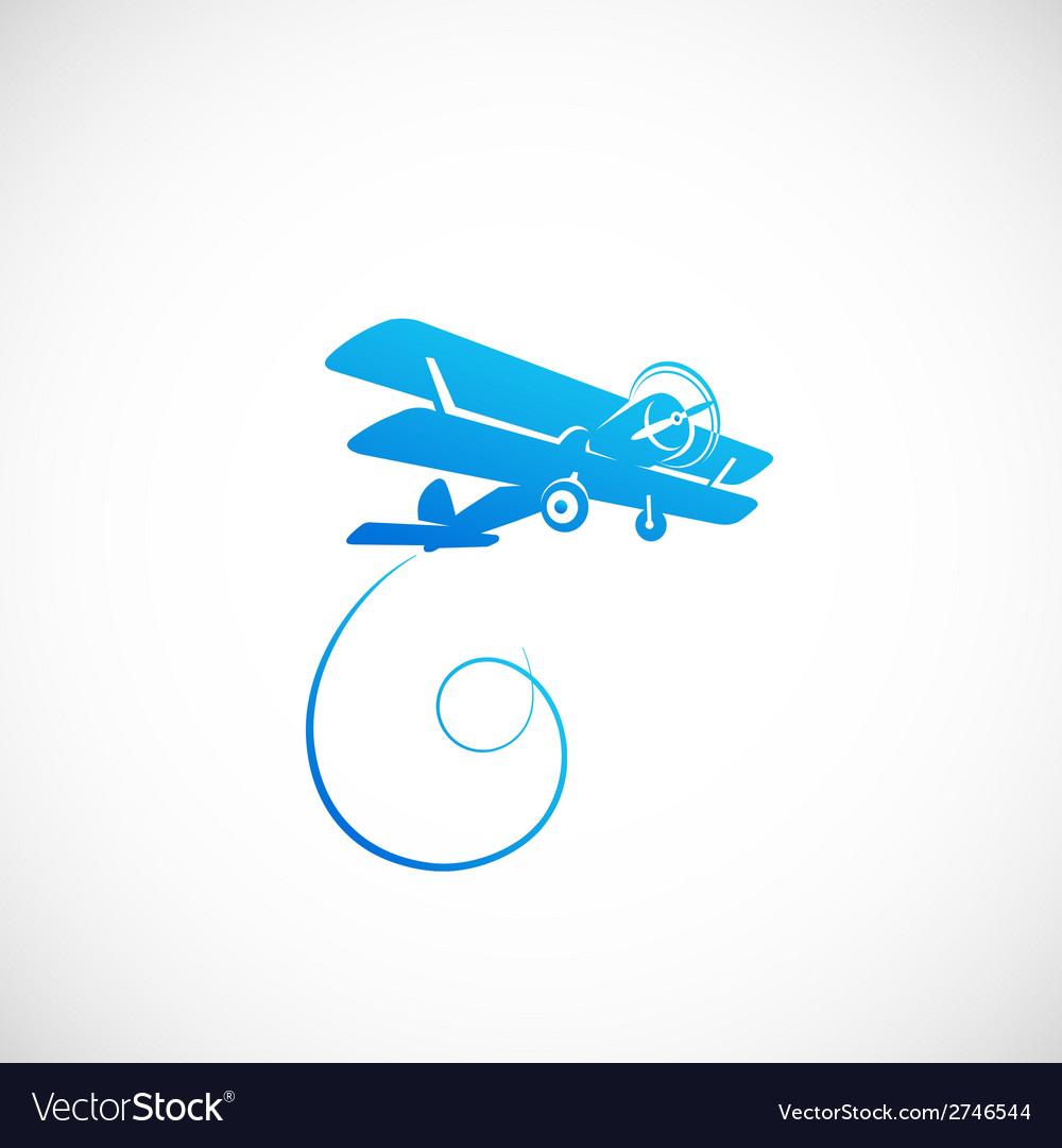Vintage plane symbolo icon or logo template vector