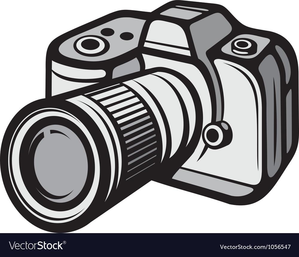 Compact digital camera vector
