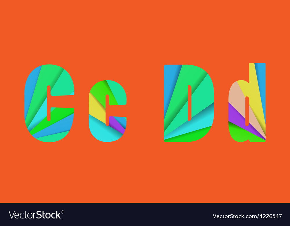Cut into several parts within font cd vector