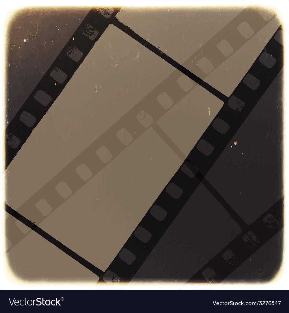 Old filmstrip background vector
