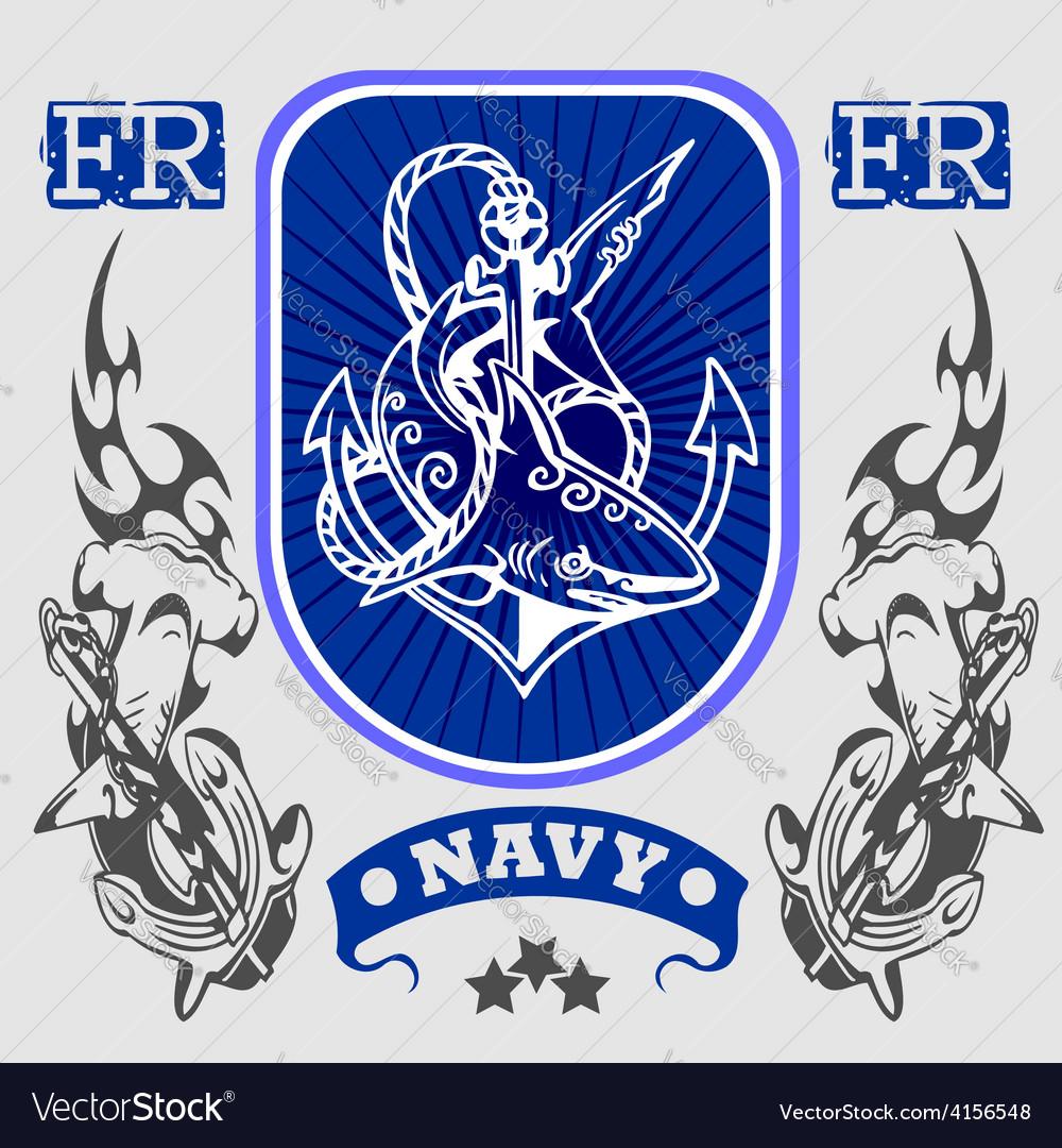 Navy military design - vector