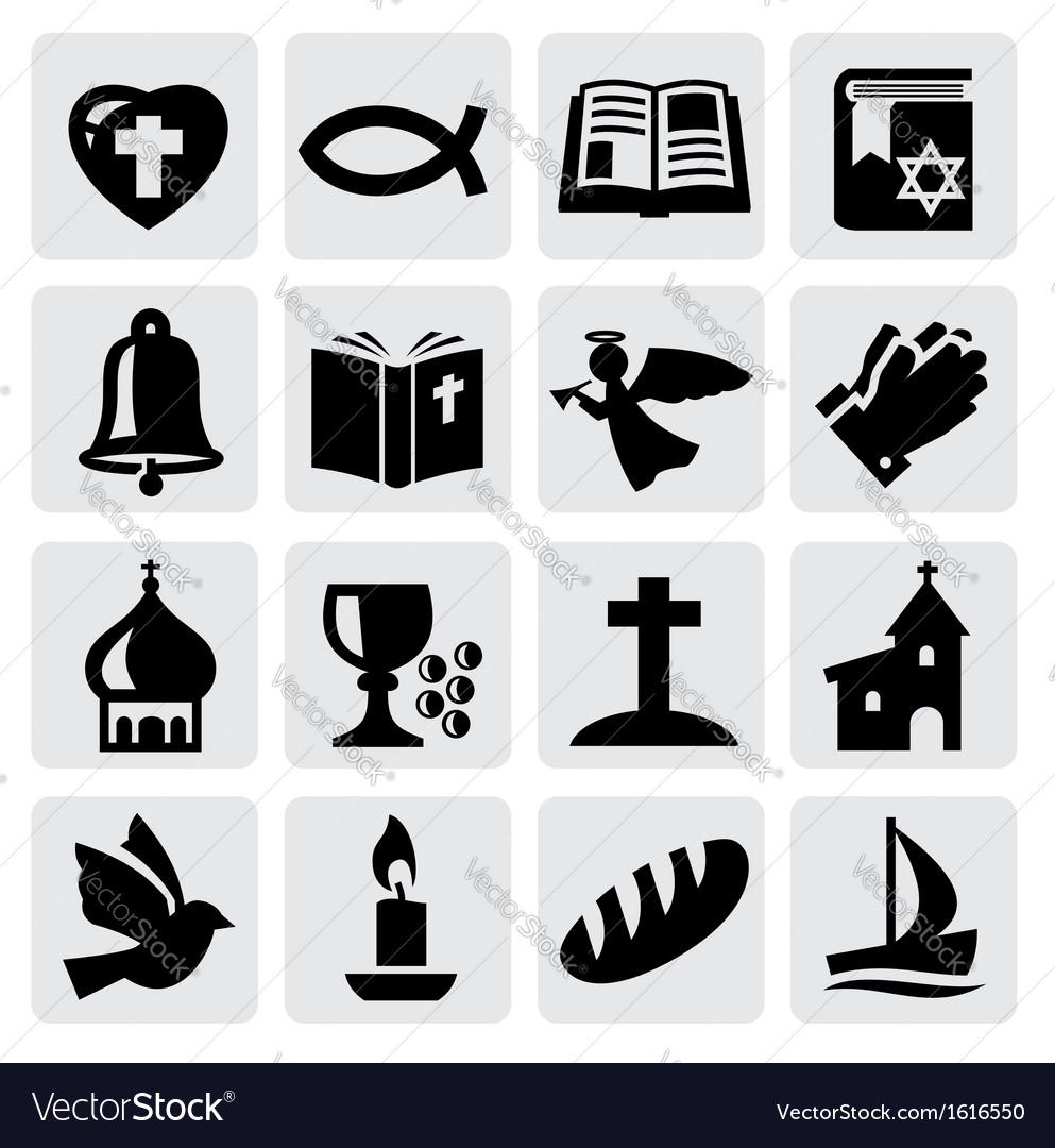 Religion icon vector