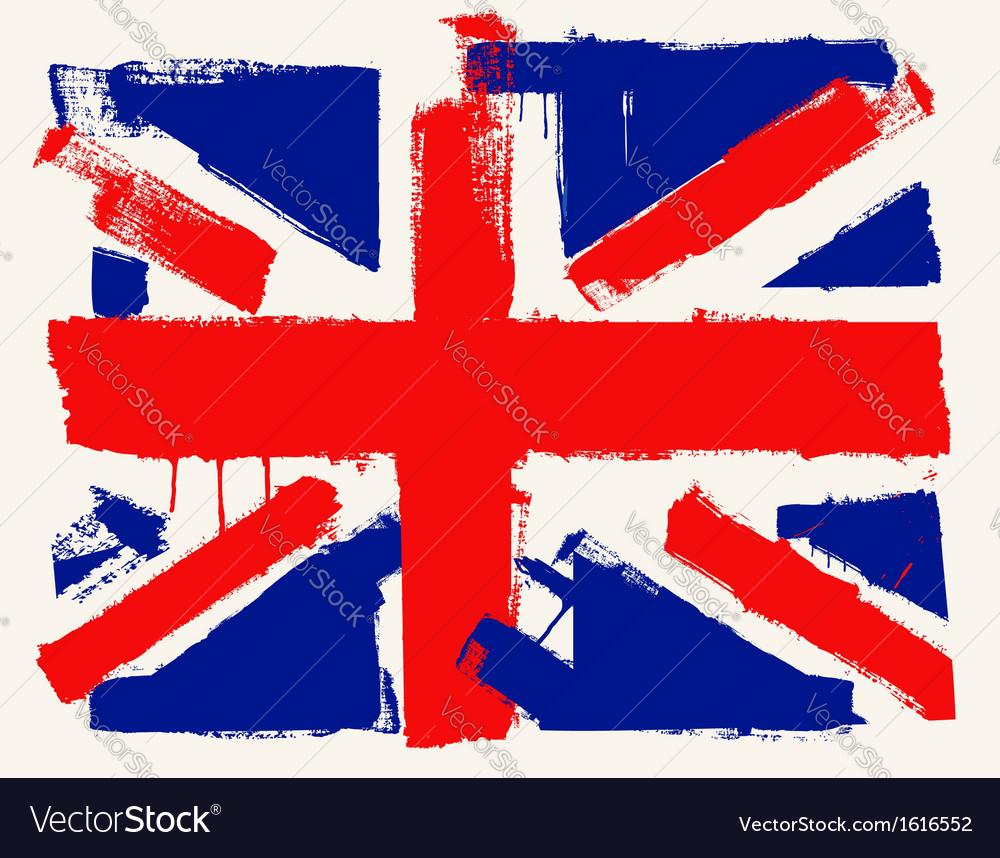 Uk paint flag vector