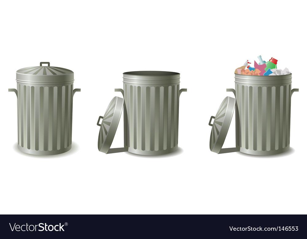 Trash can vector