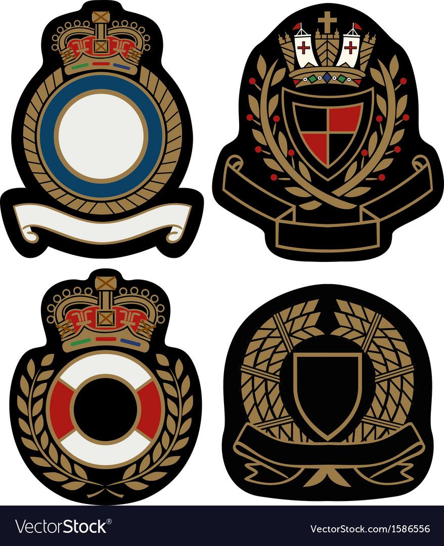 Royal emblem badge shield vector