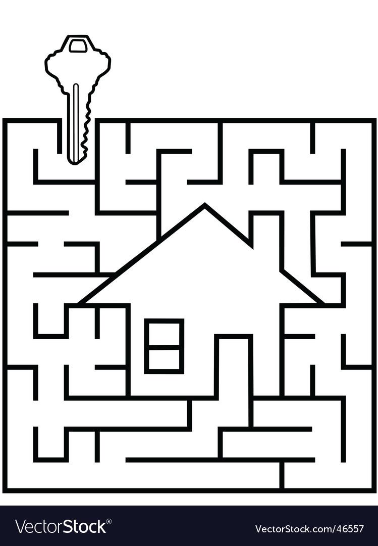 Real estate maze vector