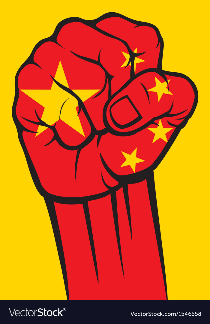 China fist vector