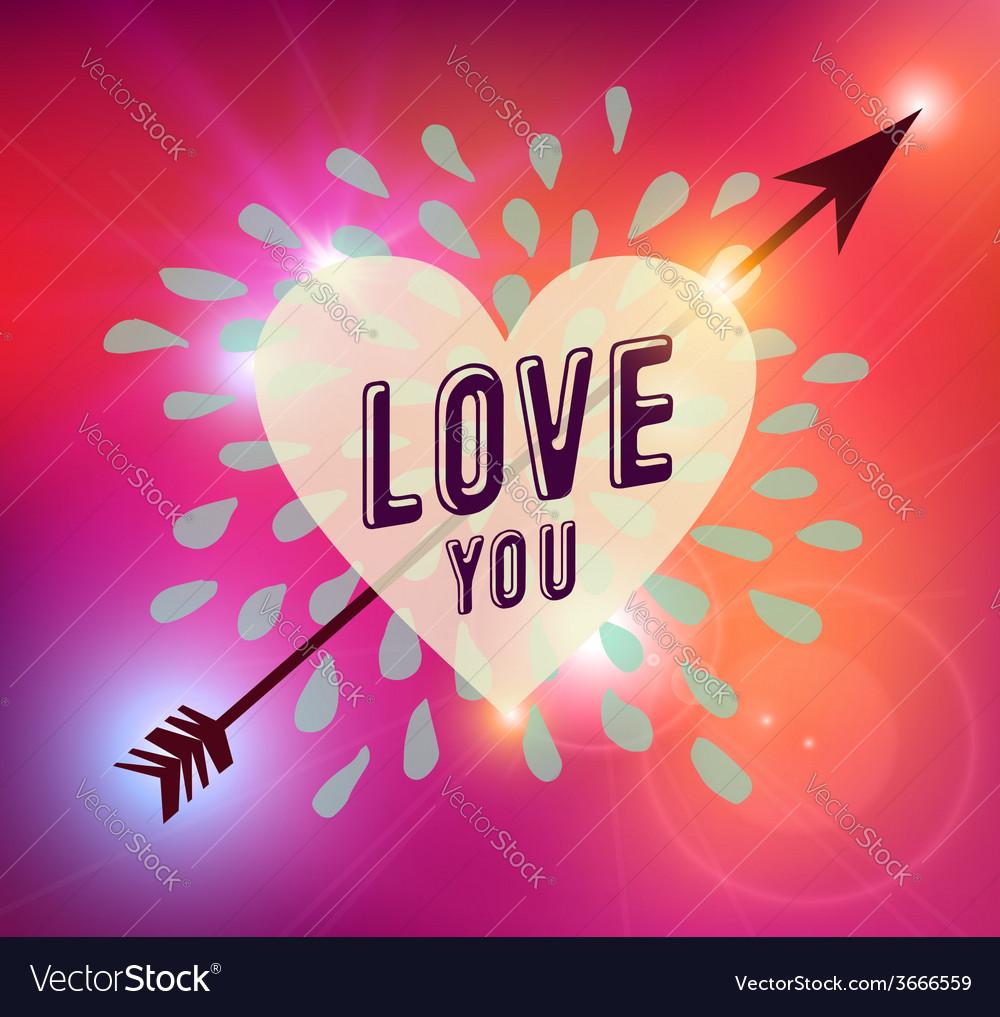 Happy valentines day heart love vector