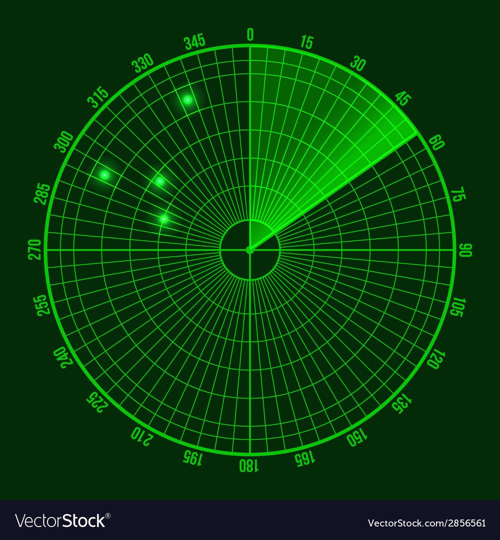 Green radar screen vector