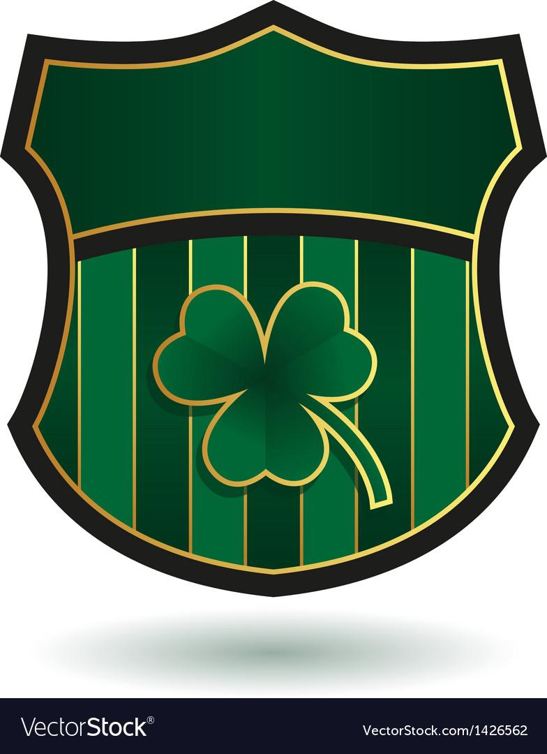 Irish emblem vector