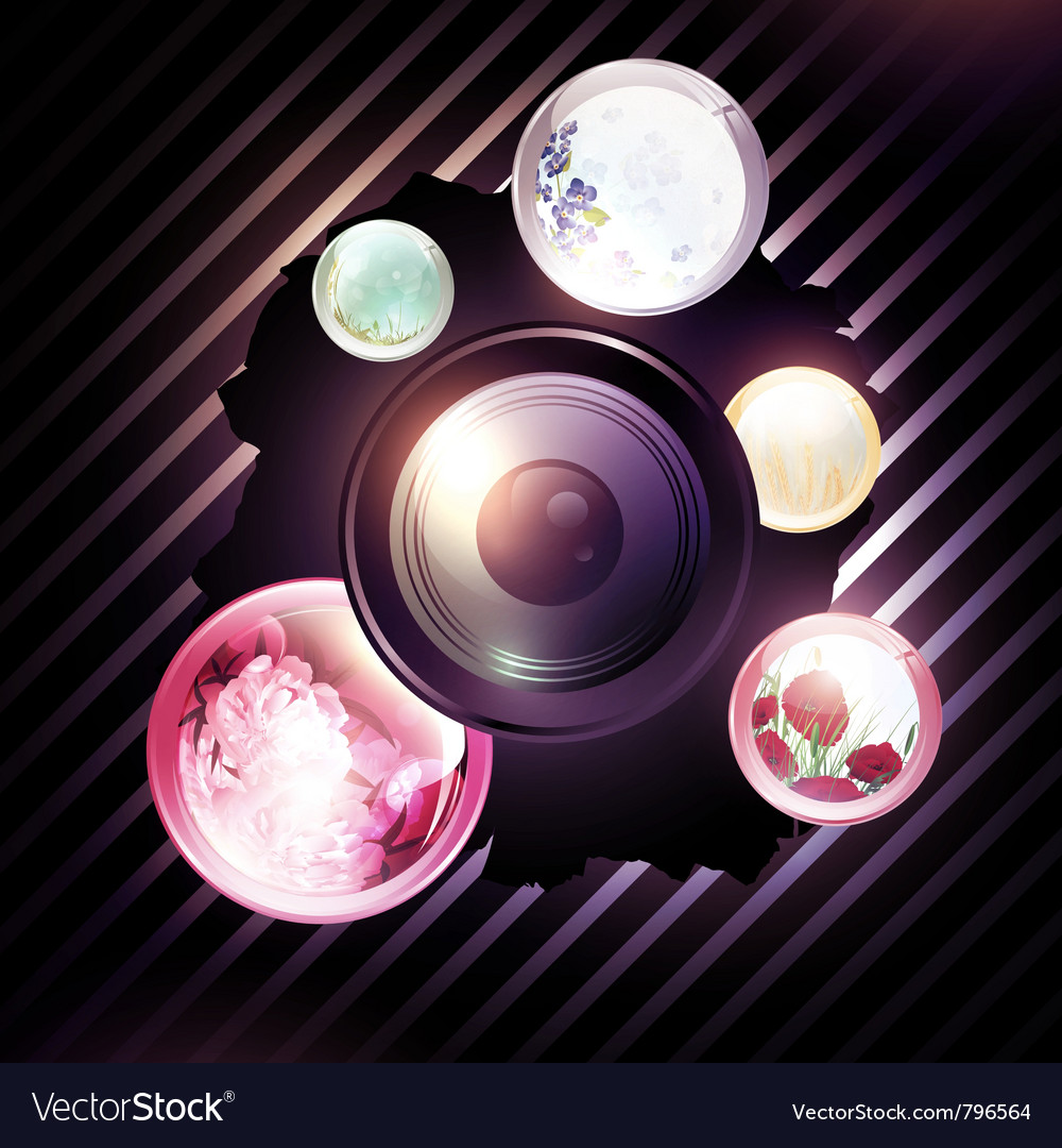 Abstract photographer background vector