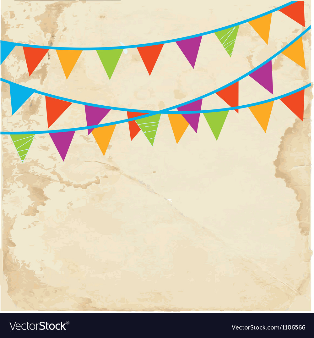Banner with flags on the paper vector