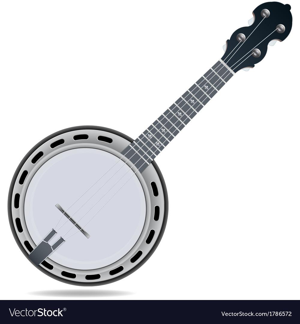Banjo fiddle instrument vector