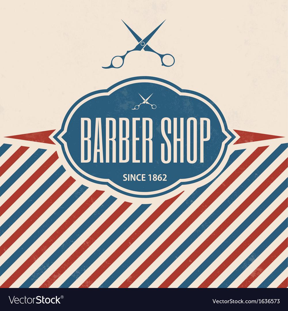 Retro barber shop vintage template vector