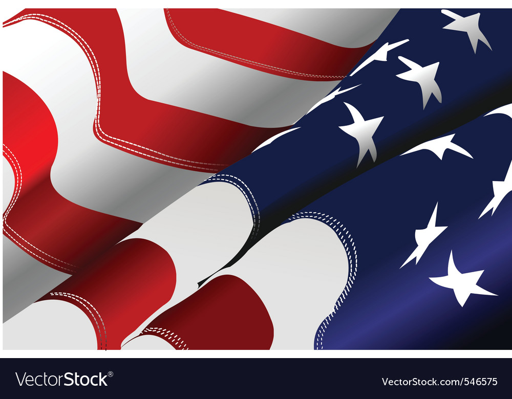 Us flag vector