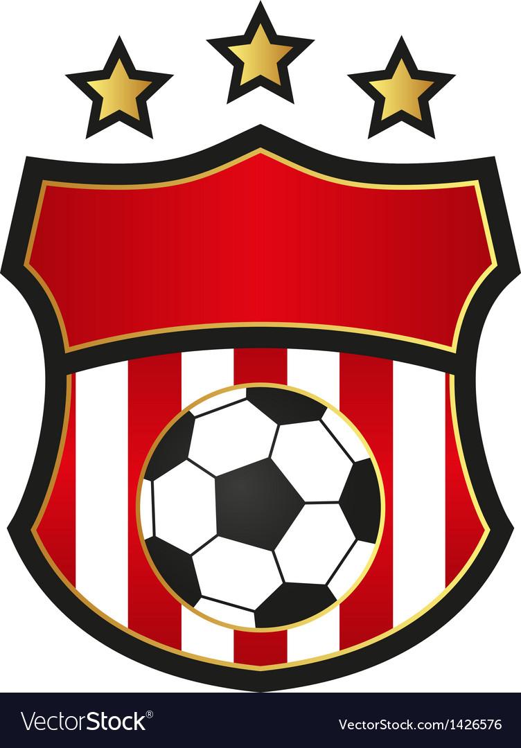 Football emblems vector